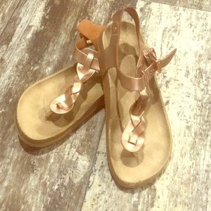 Children's Place Shoes - BRAIDED ROSE GOLD SANDALS SIZE TWO GIRLS